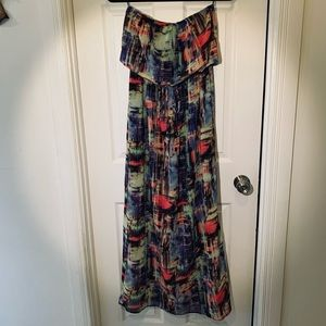 Colorful long dress 🌈🌺 size S